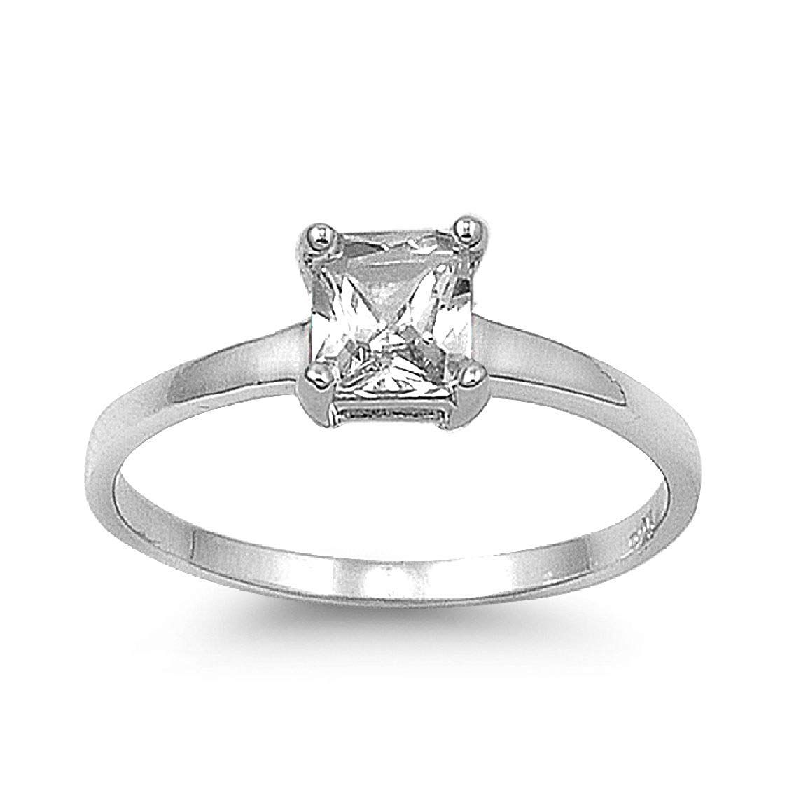 CloseoutWarehouse Rhodium Plated Sterling Silver Intertwined Heart Ring