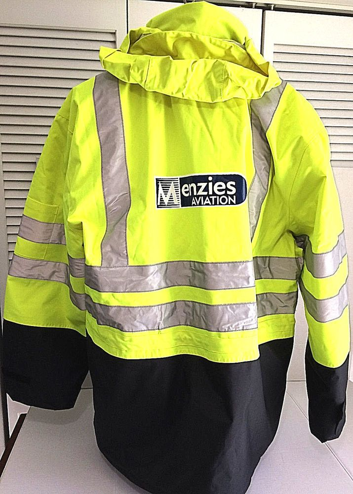 Safety Coat Incentex Mens Large 2 In 1 Outer Jacket Menzies Aviation Mint Incentex Safety Outer Jacket Jackets Coat