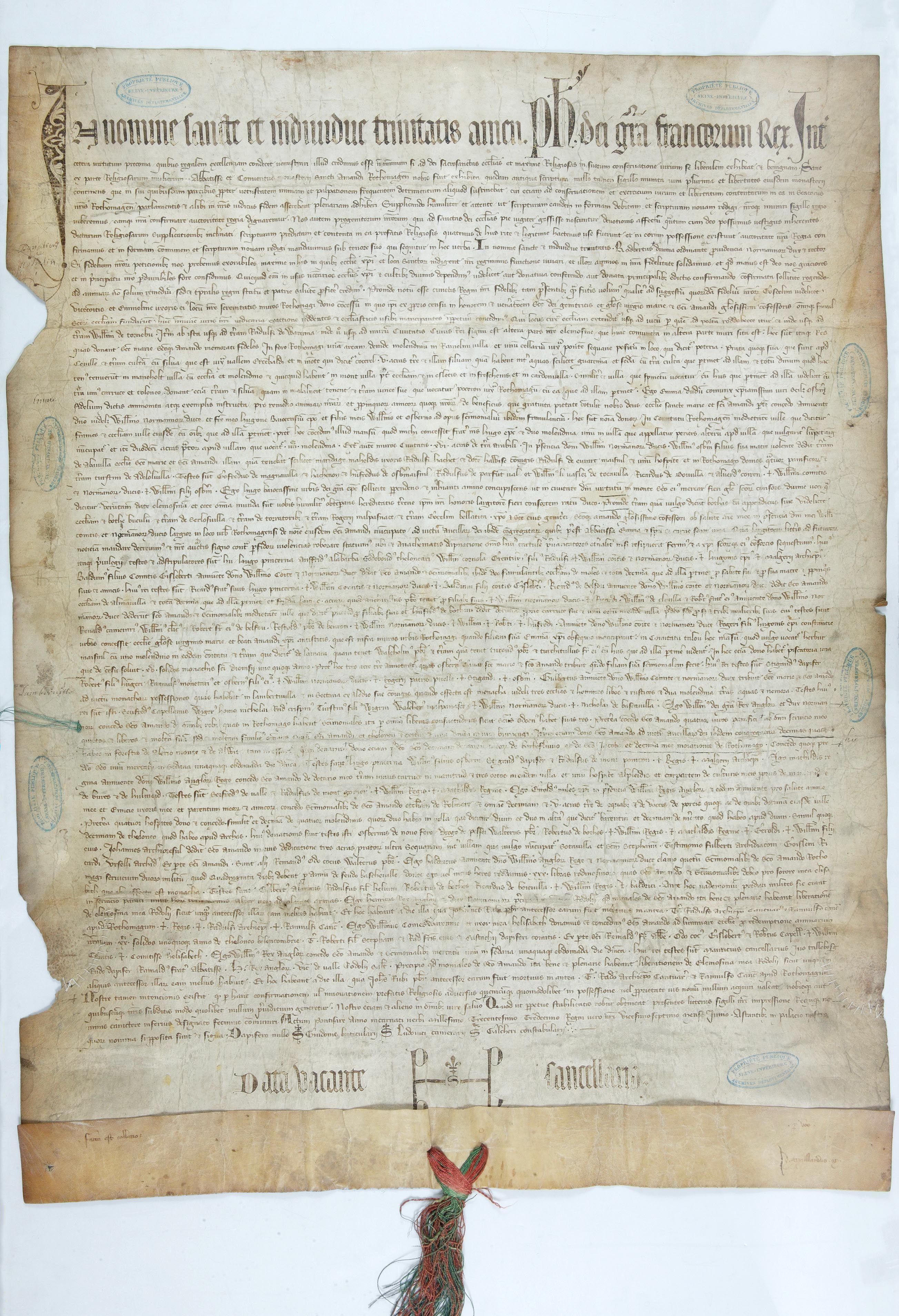 Collection Archives De Seine Maritime Diplome En Faveur De L Abbaye Saint Amand De Rouen Donne A Pontoise En Juin 1313 Par Rouen Dragon Meaning Sea Serpent