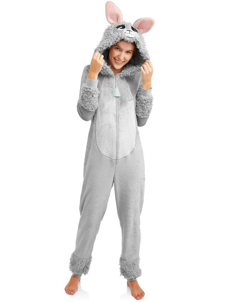 de87b0434e72 Gray Llama Union Suit One Piece Pajama Halloween 3D Costume RAVE XS ...
