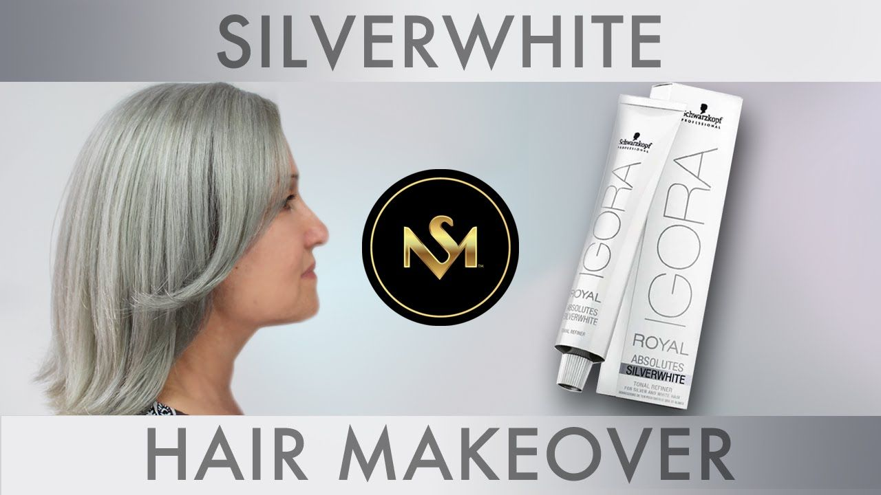 Silverwhite hair makeover pinterest hair watch as i test out the brand new igora royal absolutes silverwhite demi permanent colour here my model was looking to grow out her natural silver hair nvjuhfo Image collections