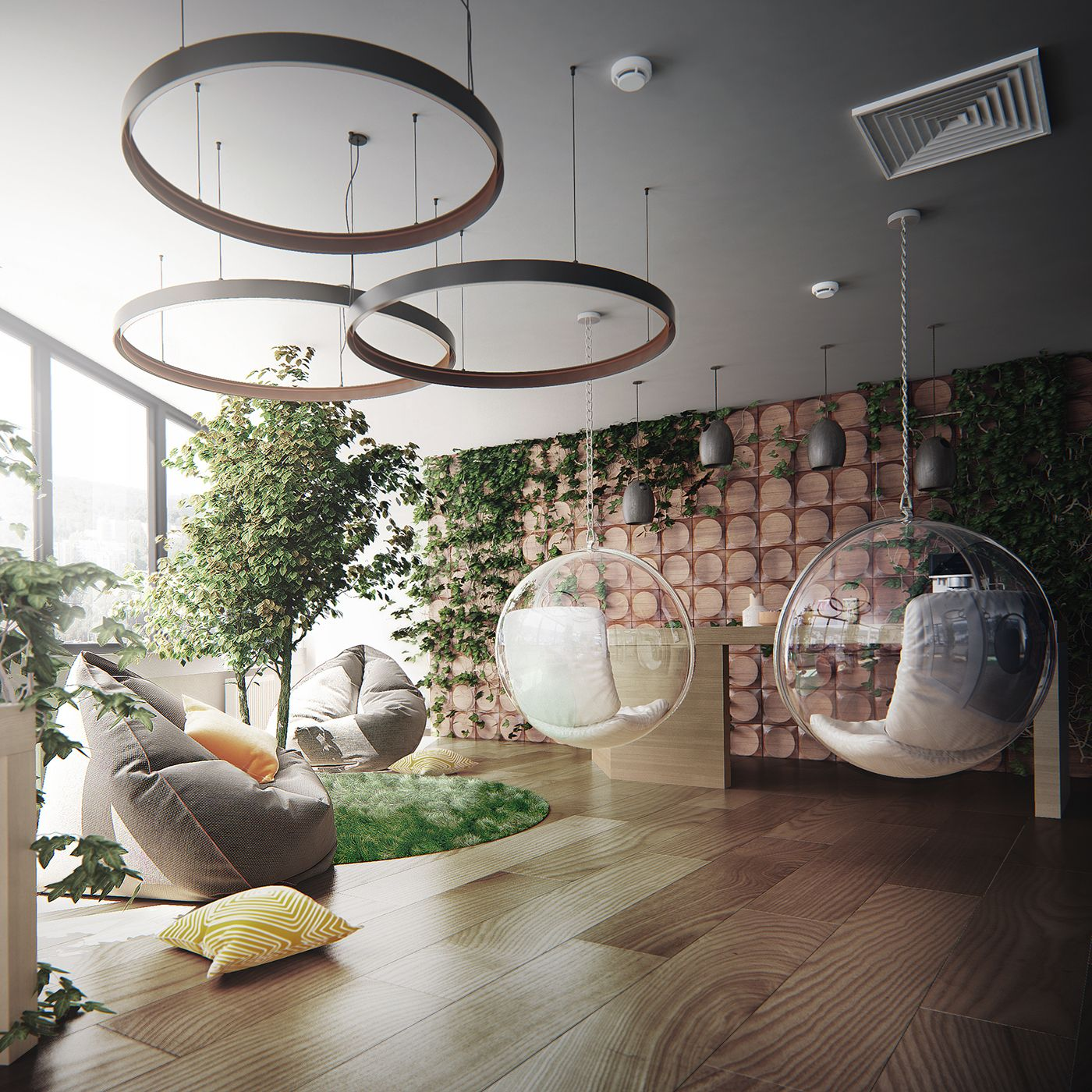 Visualization Recreation Space In Office On Behance