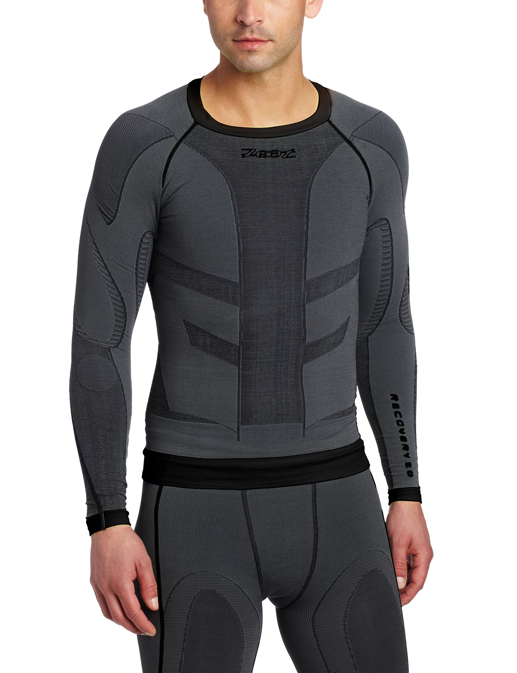 Saucony Mens Life On The Run Cooldown Long Sleeve Top Grey Sports Running Gym