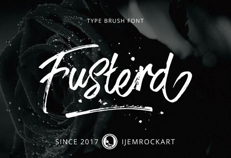 Fusterd Brush Font Brush Fonts Typography Free Brush Fonts