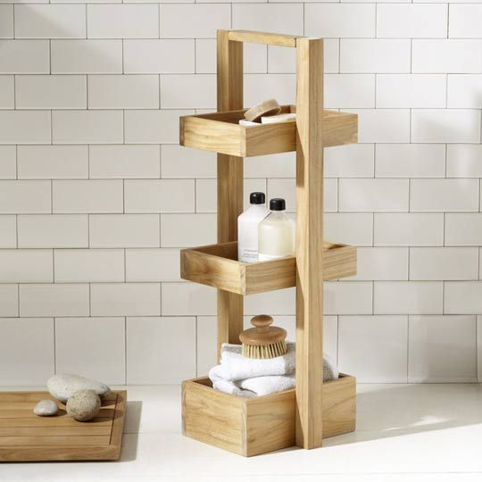 Teak Shower Caddy | House | Pinterest | Teak, Shelves and Bath