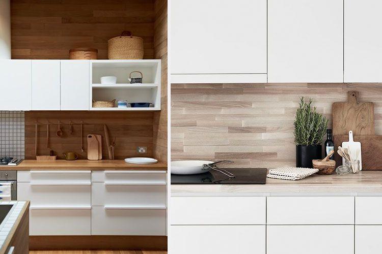 Decofilia blog revestimiento de frentes de cocina for Revestimiento de madera para cocina