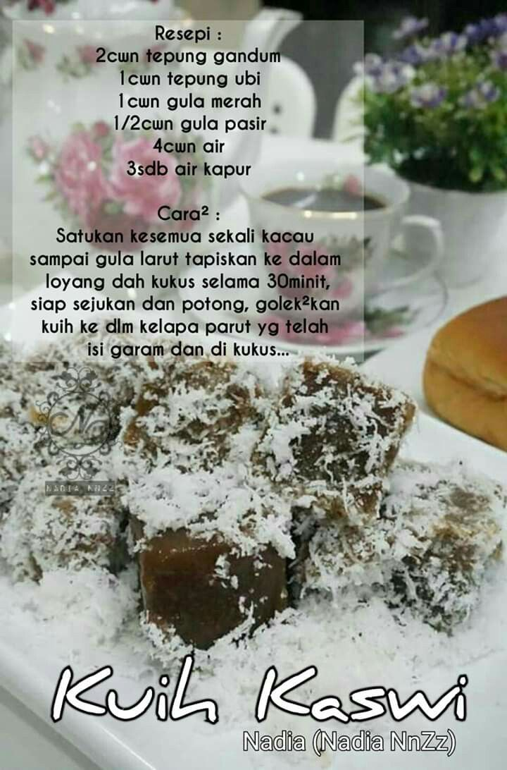 Kuih Kaswi Malaysian Dessert Food Kitchen Recipes