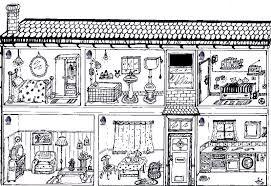 Image Result For Parts Of The House Printable Worksheets Haus Abbildung Wortschatz Wort