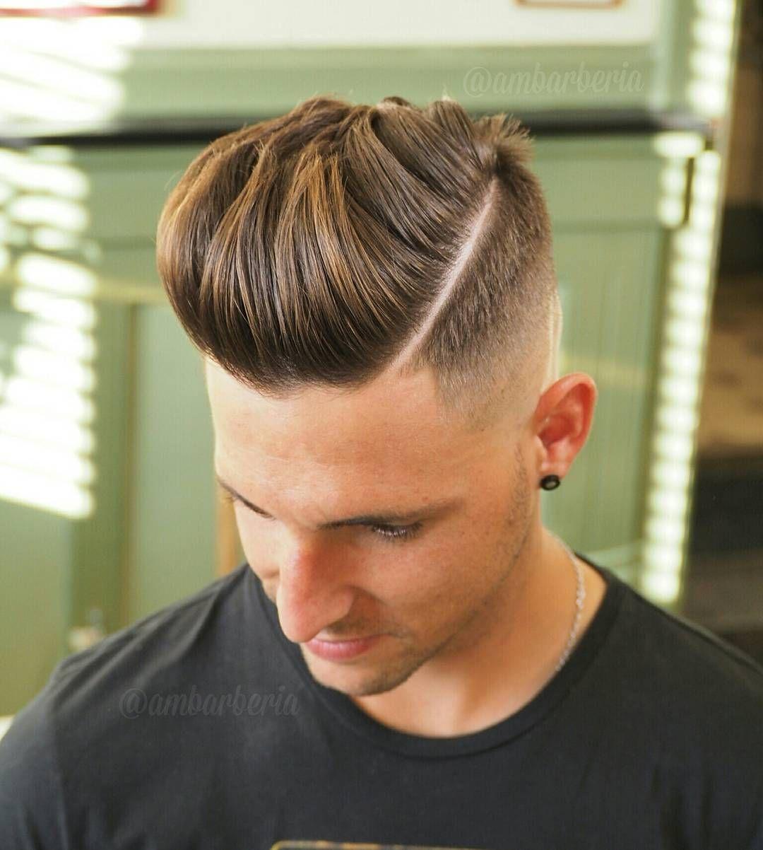 Men's hard part haircut  popular haircuts for men   high fade haircut high fade and