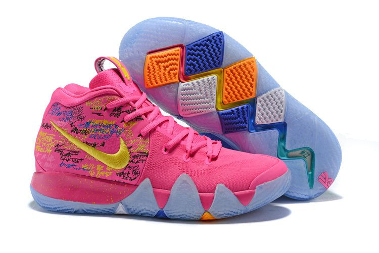 b81e73f2745a 2018 Kyrie Irvings x Wholesale Cheap Nike Kyrie 4 What The Pink Teal  Christmas - www.hoopfetch.com
