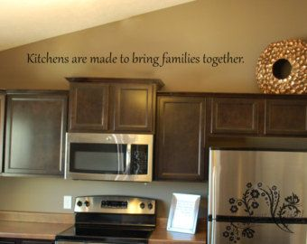 Vinyl Wall Art Above Cabinets In Kitchen Decor Family Decals
