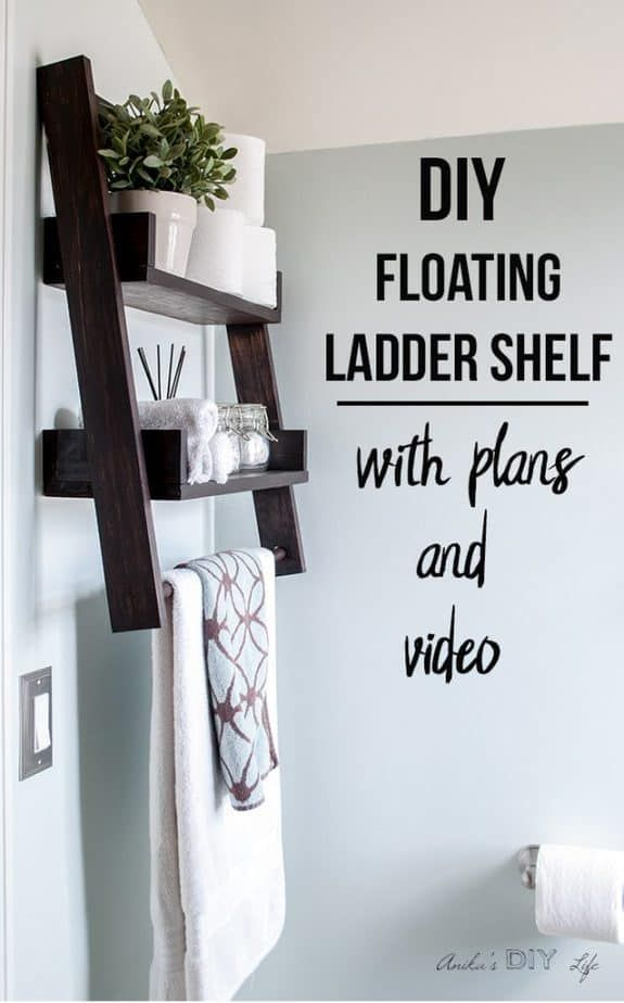 Photo of DIY Floating Ladder Shelf – with Plans