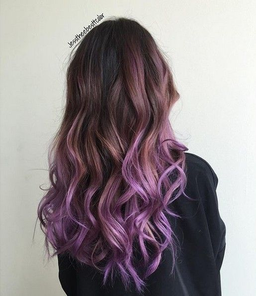20 Purple Ombre Hair Color Ideas | Pretty hair color, Balayage ...