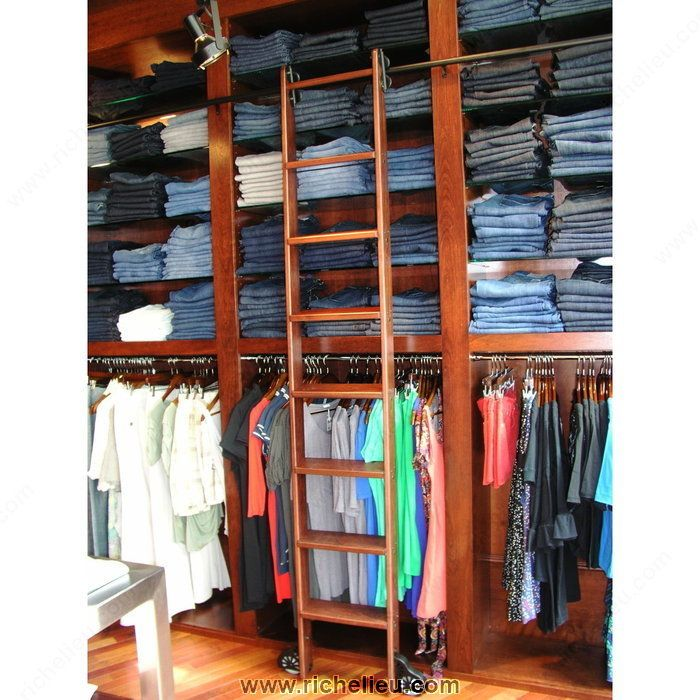 Superior Putnam Custom Order Library Rolling Ladder System   Modern   Ladders And  Step Stools   Rockler