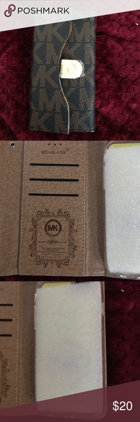 MK monogram phone case This is a brand new MK phone case bought at TJ Max never used. Michael Kors Accessories Phone Cases