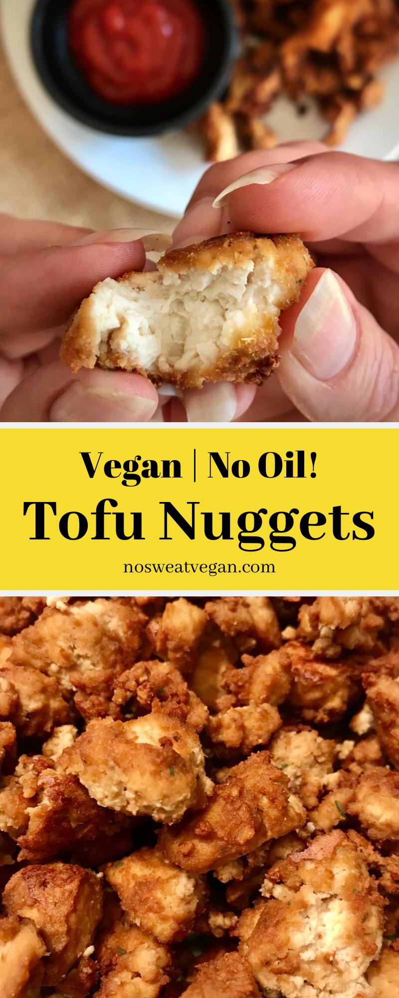 Easy No-Oil Tofu Nuggets