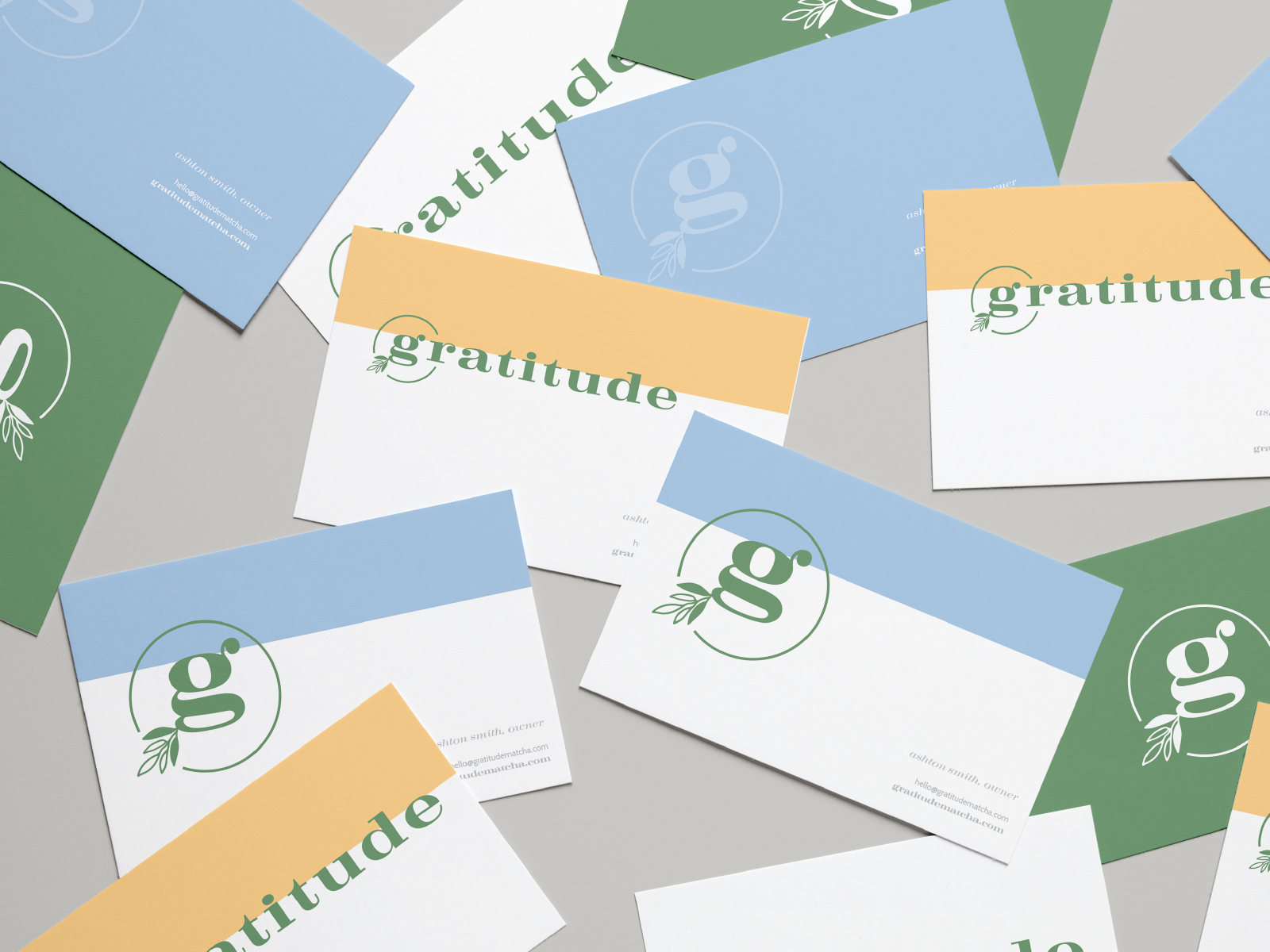 Collateral And Business Card Design For Matcha Brand Businesscards Graphicdesign Business Card Layout Design Business Card Design Squarespace Website Design