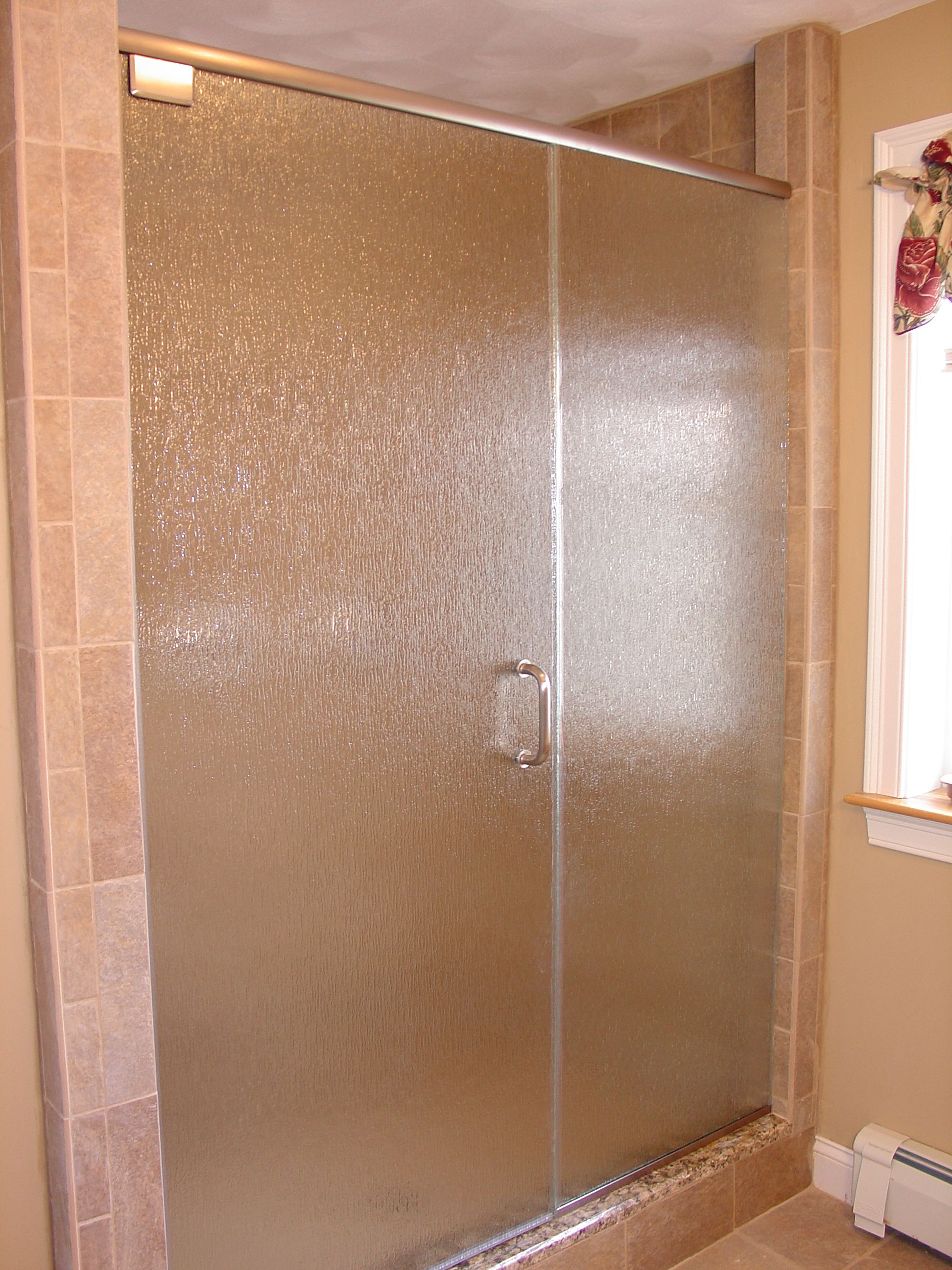Glass Shower Doors Shower But Does Not Have A Header