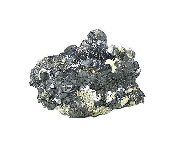 Silvery Galena knobs Golden Pyrite Sphalerite by FenderMinerals