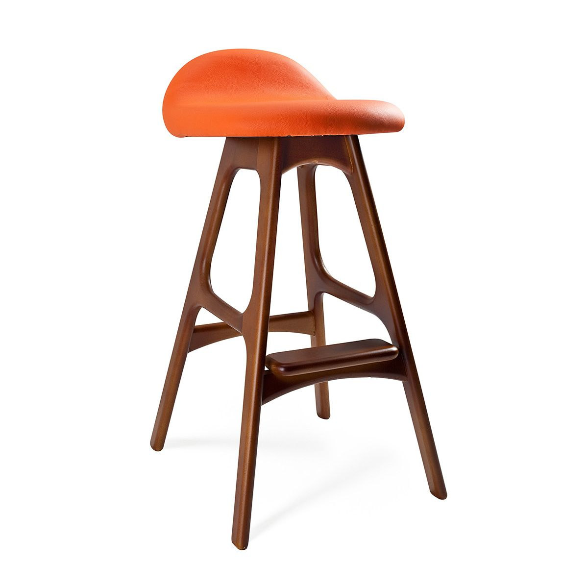 mid century inspired bar stool  orange  dotandbocom i love  - mid century inspired bar stool  orange  dotandbocom i love
