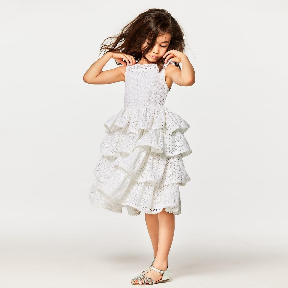 Girl White Tiered Eyelet Dress By Janie And Jack Dresses Versatile Dresses Eyelet Dress [ 1200 x 1200 Pixel ]
