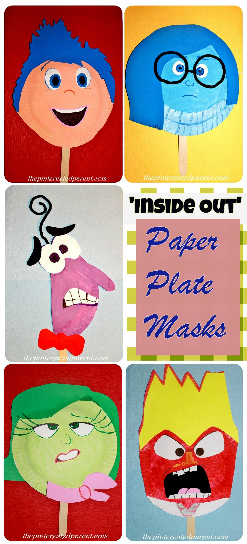 Inside Out Paper Plate Masks Craft  sc 1 st  Pinterest & Inside-Out-Paper-Plate-Masks-Craft | Kids crafts | Pinterest | Paper ...