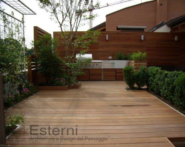 Cucine da esterno cucina da esterno in legno e acciaio - Cucine da esterno in muratura ...