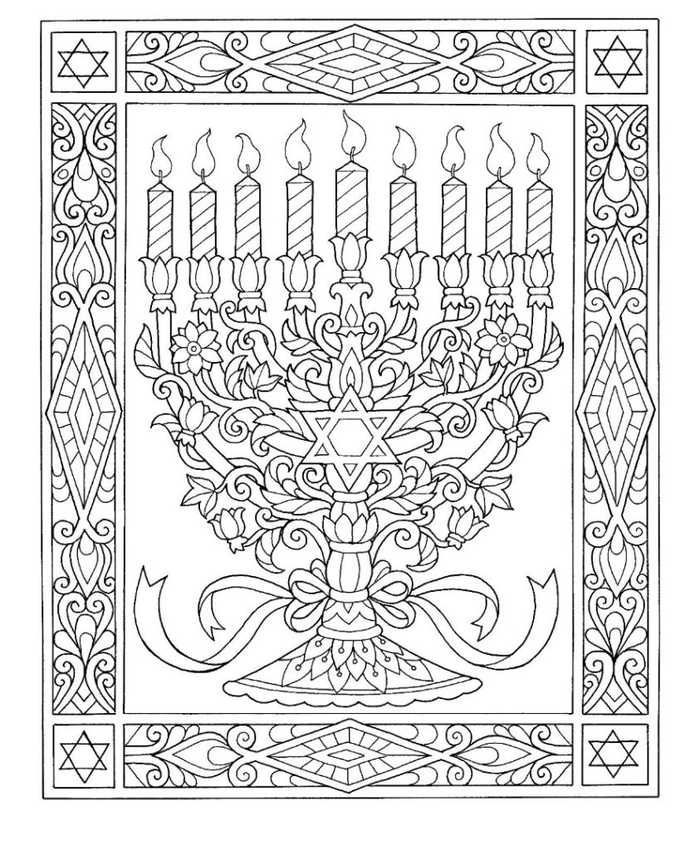 Hanukkah Coloring Pages Printable - Free Coloring Sheets # ...