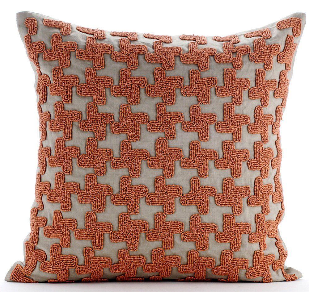 The Pillow Collection Tova Geometric Bedding Sham Neutral European//26 x 26,