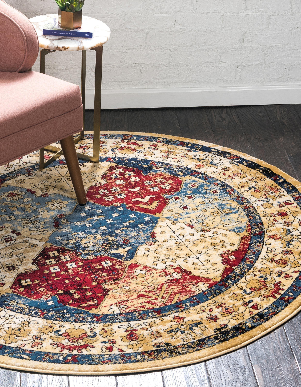 Multicolor 5 X 5 Georgetown Round Rug Ad Multicolor