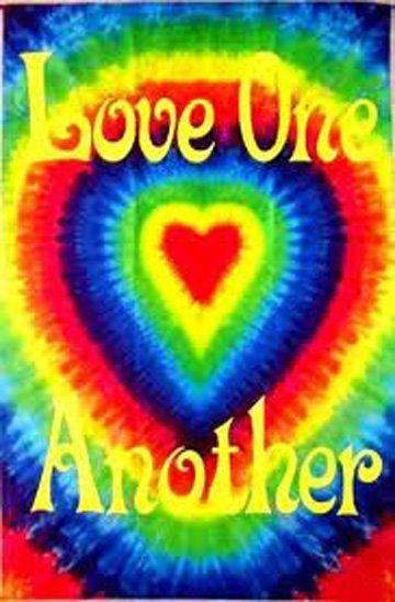 American Hippie Art Quotes Tie Dye .. Love ️ Hippie