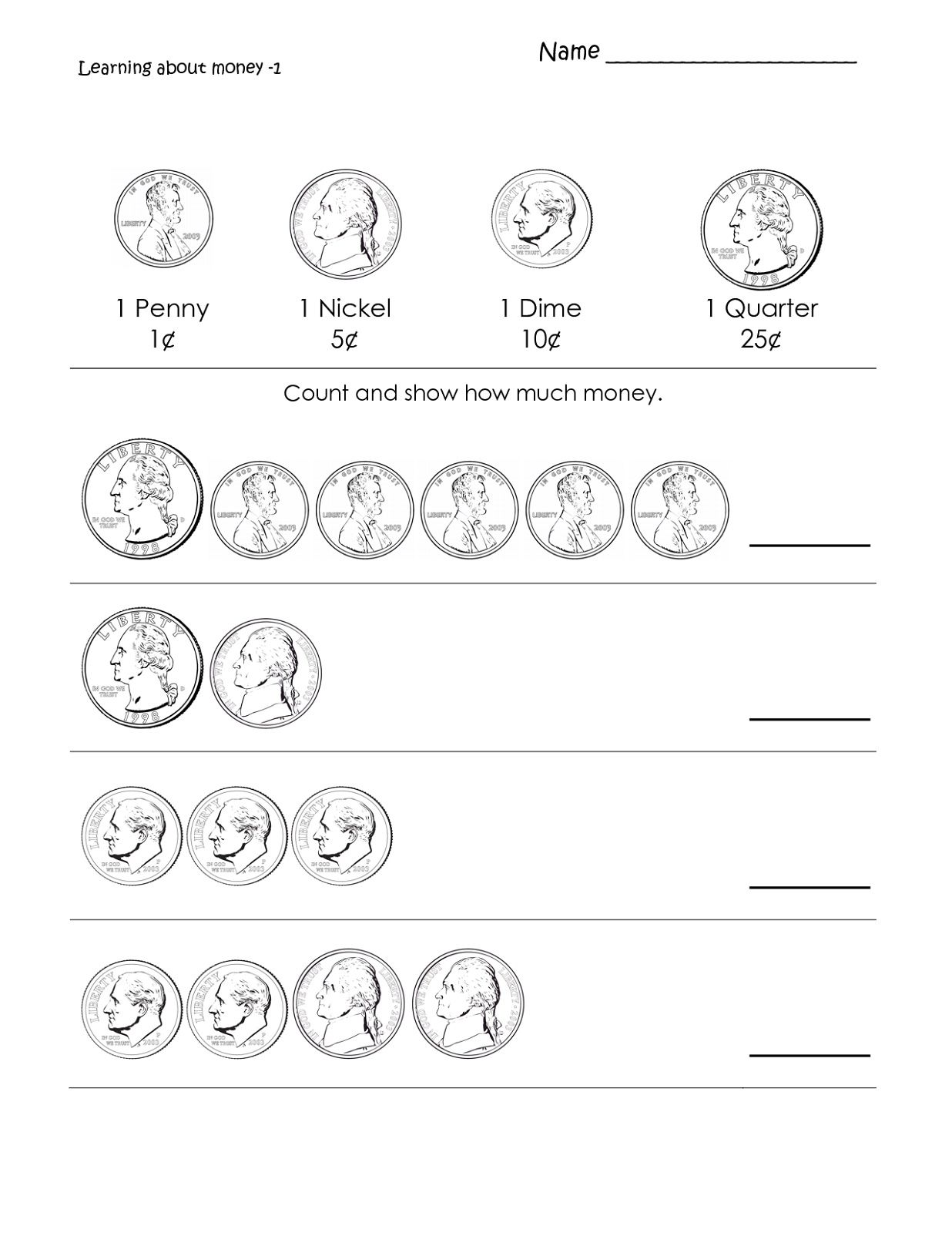 First Grade Math Worksheets Printable In