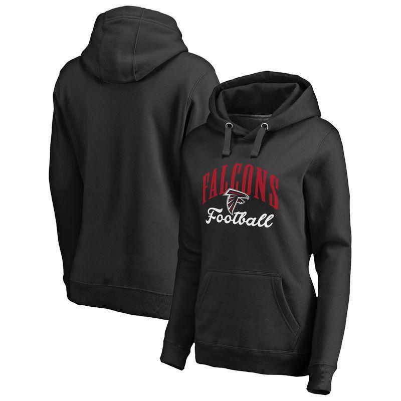 Atlanta Falcons NFL Pro Line by Fanatics Branded Women s Victory Script  Plus Size Pullover Hoodie - 55168cf6a