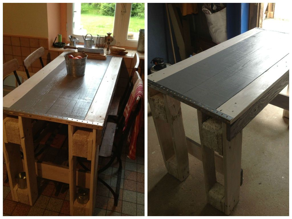 Kitchen Pallets Table Furniture Pinterest