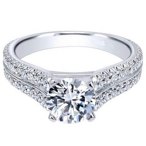 Royal Celebration Constance 14K White Gold Diamond Engagement Ring · ER10283W44JJ · Ben Garelick Jewelers