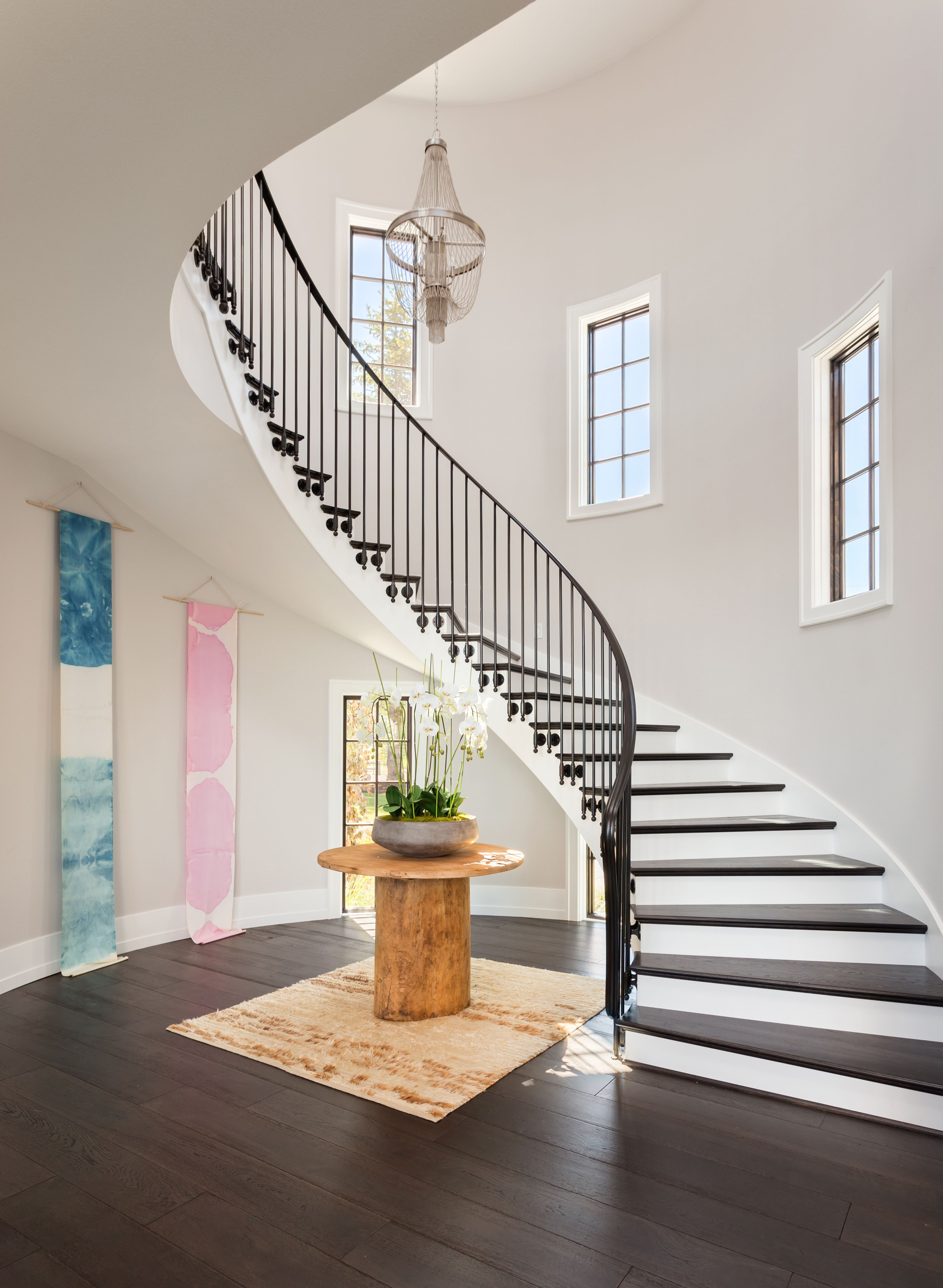 P We Completely Designed And Built This Staircase And Balustrade System For The 2016 Street Of Dreams Prim Home Stairs Design Staircase Design Stairs Design