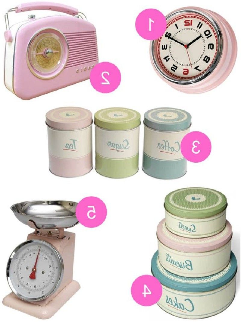 Pink Vintage Kitchen Accessories By Home London Links Here From Retro