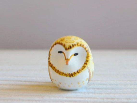 Barn Owl Totem- Pocket totem   Owl, Figurines, Bird feathers