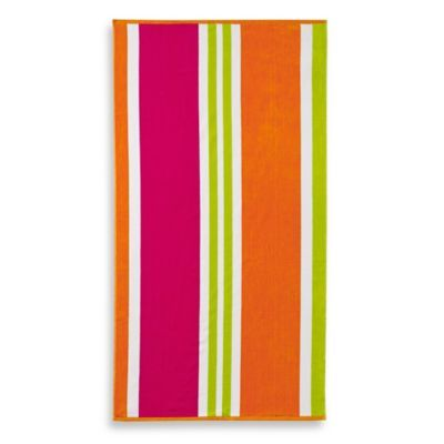 Bed Bath And Beyond Beach Towels Entrancing Bed Bath & Beyond Multistripe Jacquard Beach Towel  Beach Towel 2018