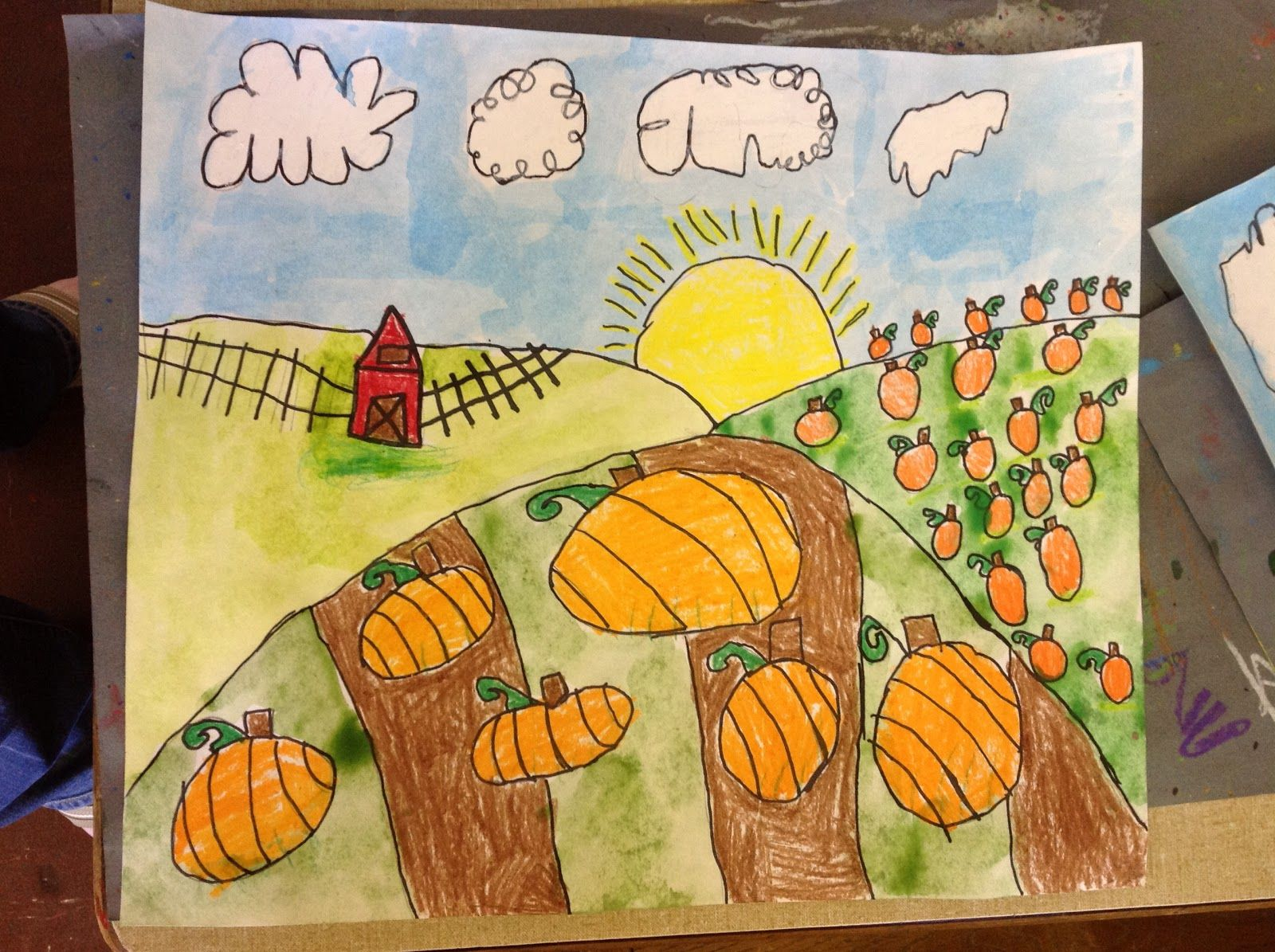 Grant Wood Pumpkin Farms! Grant wood, Art lessons