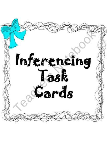 Inferencing Task Cards Activity from Klever Kiddos on