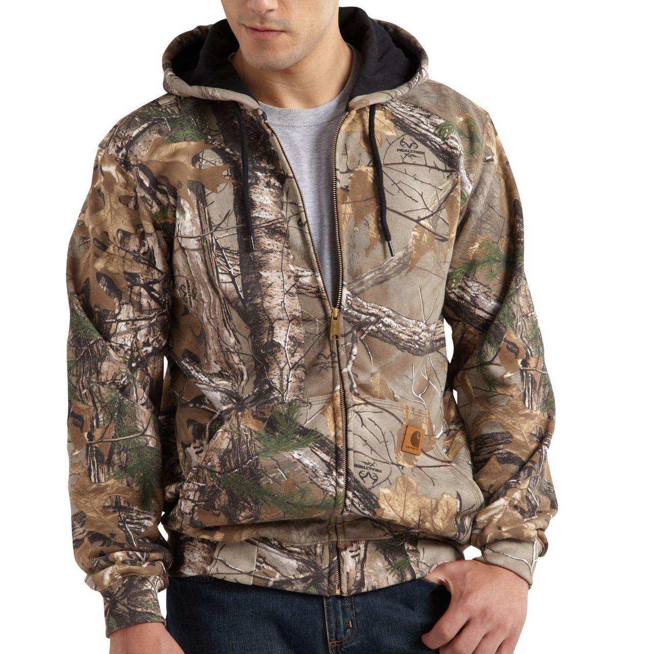Midweight Camo Hooded Zip Front Sweatshirt The Brown Duck Carhartt Sweatshirts Carhartt Jacket Carhartt Mens [ 1280 x 1280 Pixel ]