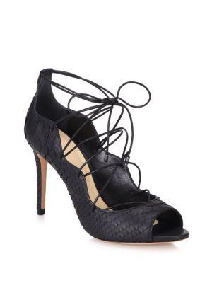 0b0a85e2f8c ALEXANDRE BIRMAN Scalloped Python Lace-Up Pumps.  alexandrebirman  shoes   flats