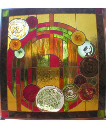 Rondel Panel Glass Panels Kokomo Opalescent Glass Glass Art Art Stained Glass