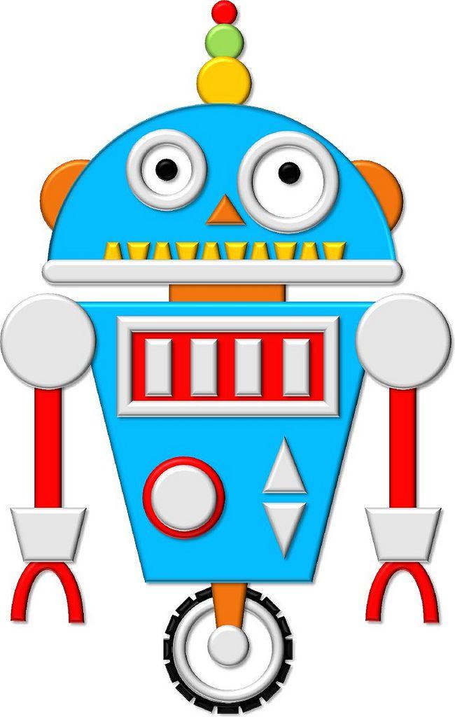 Pin By Johana Cano On Clipart דמויות Robot Theme Robots Preschool Robot Birthday Party