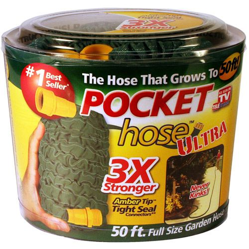 As Seen On Tv Water Hose Pocket Hose Ultra Retractable 50 Feet Garden Hose Walmart Com Hose See On Tv Garden Hose