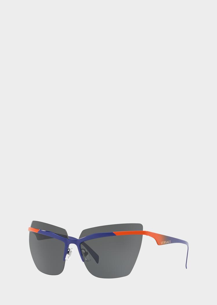 1531861cffdfc Versace Navy  VFierce Visor Sunglasses for Women