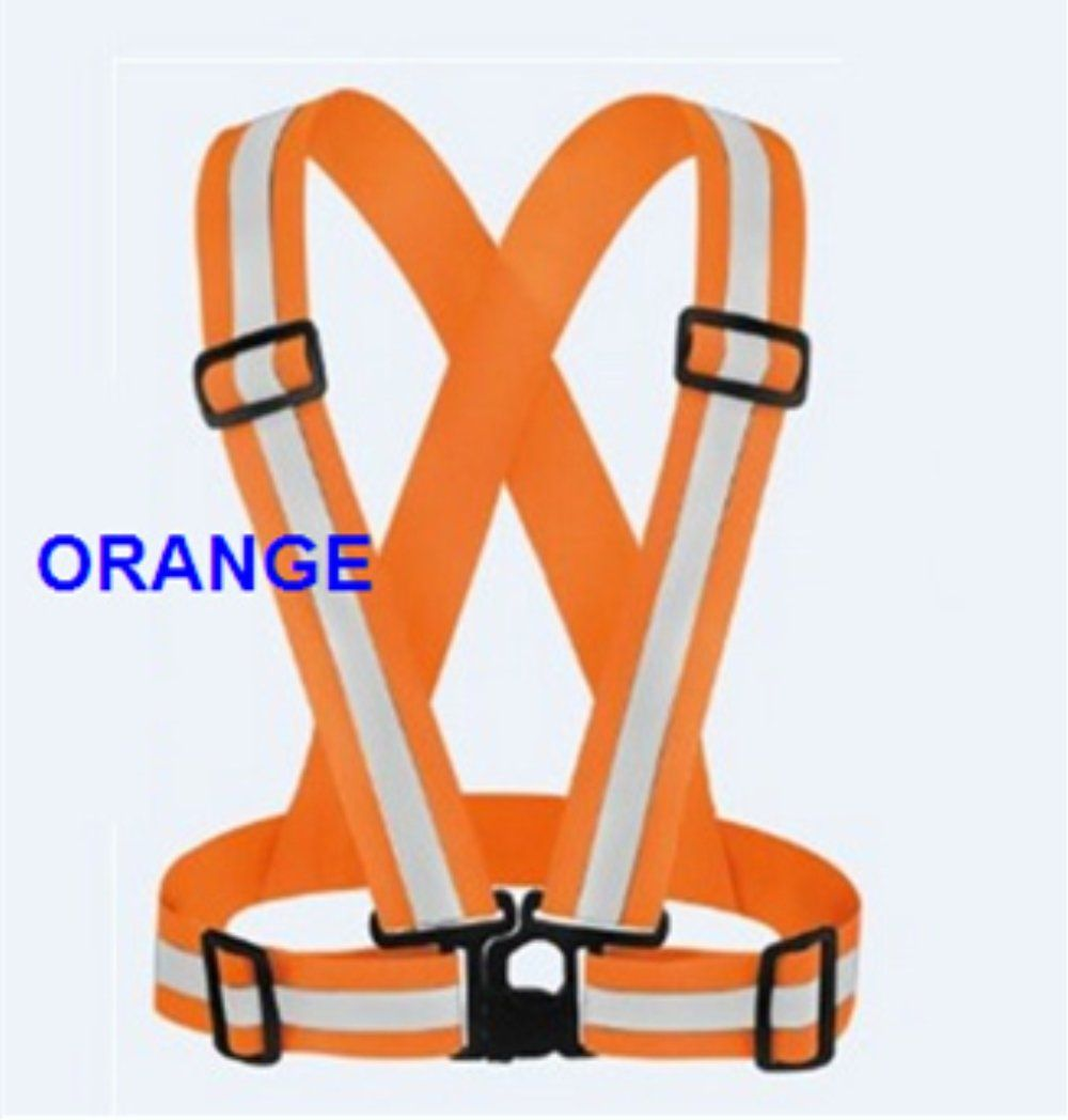 Orange Cycling A-SAFETY Reflective Vest Motorcycle Safety Fully Adjustable /& Multi-Purpose: Running Dog Walking High Visibility Neon Colors