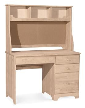 Unfinished Furniture Outlet Sanford Nc Student Desk And Hutch Solid Wood Has 3 Regular Drawers 1 File