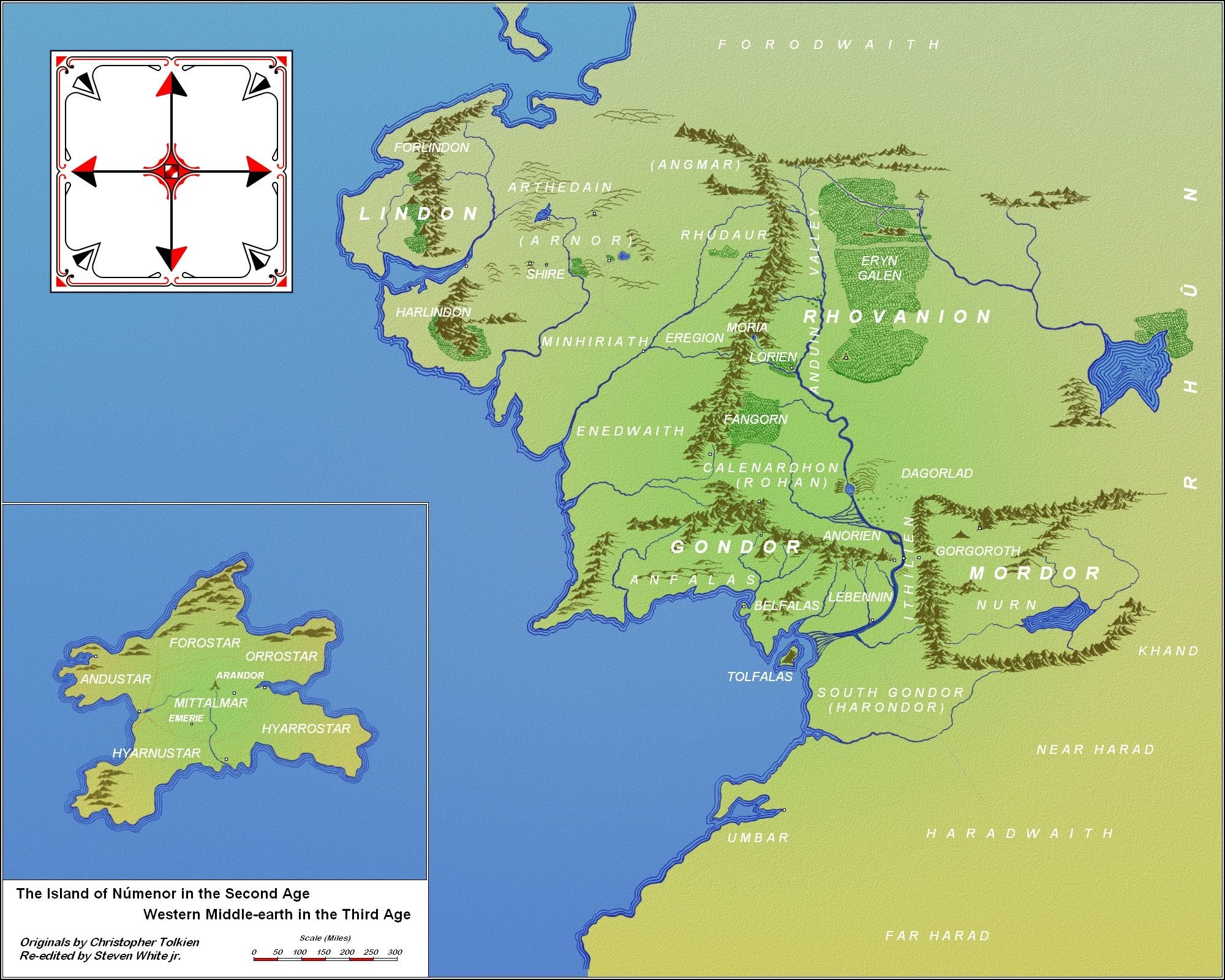 Númenor and Western Middle Earth in the 3rd Age | The Silmarillion